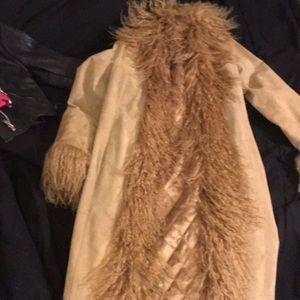Marvin Richards fluffy coat